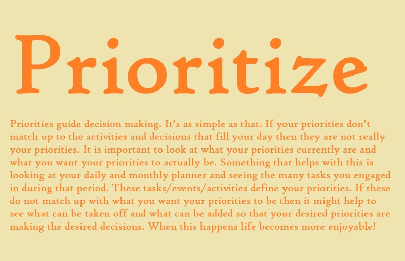 prioritize def