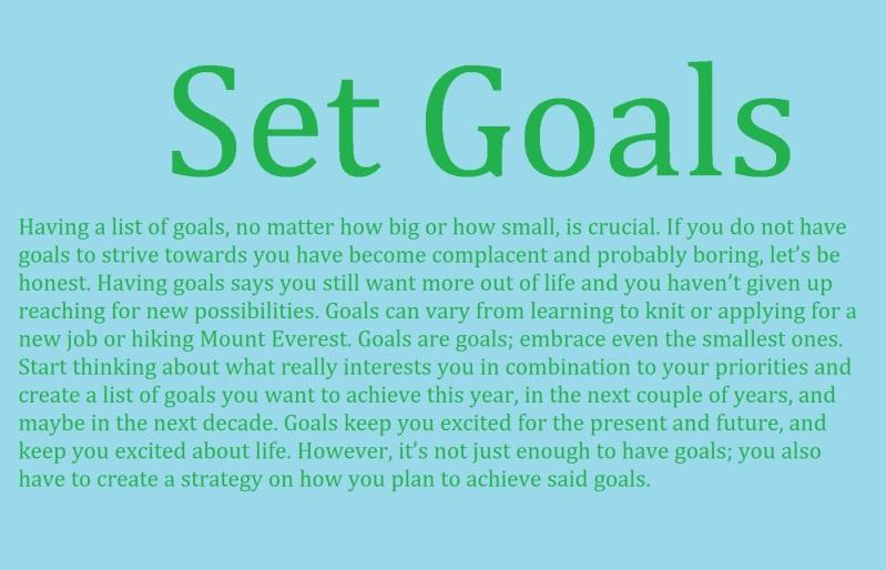 set goals 5